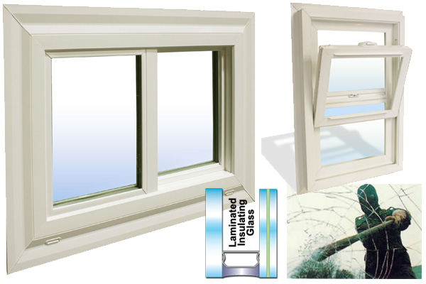 Gs High Security Laminate Vinyl Window Factory