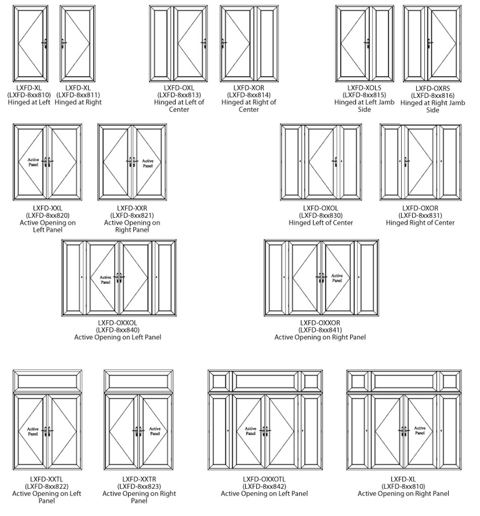 Swinging French Door Options