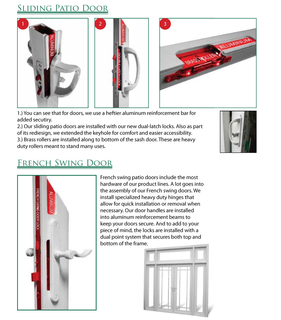 French Patio Door Hardware