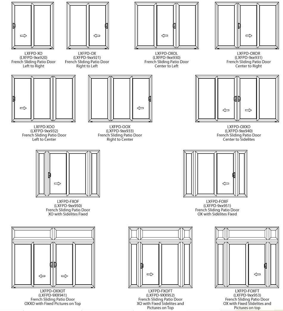 Door options sliding french door options sc 1 st for Sliding door options