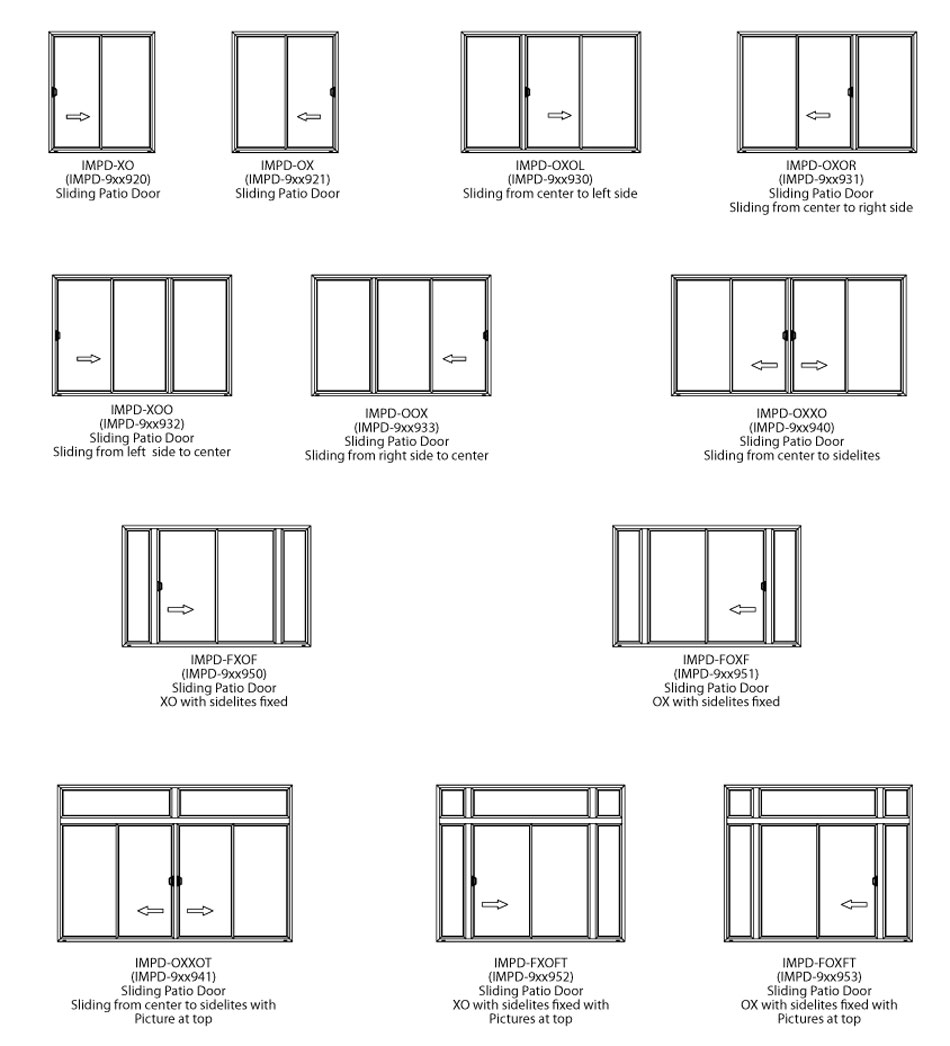 Sliding Patio Door Options 950 x 1046
